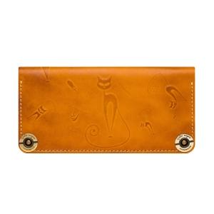Кошелек женский кожаный оранжевый Catswill