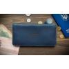 Бумажник кожаный синий Neat