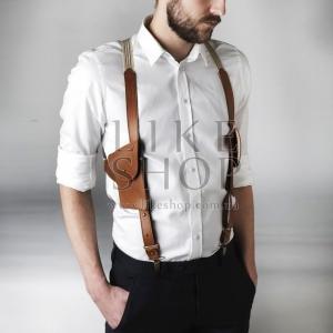 Подтяжки мужские Suspenders Leather