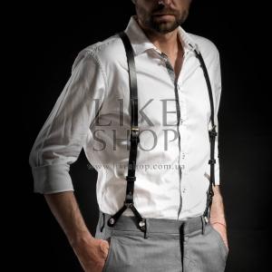 Подтяжки мужские Leather Suspenders Massy