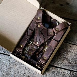 Подтяжки мужские Leather Suspenders Diurnal
