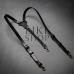 Мужские подтяжки кожаные Leather Suspenders Secure