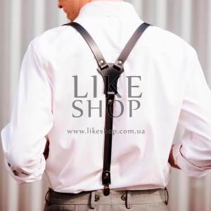 Подтяжки мужские Leather Suspenders Secure