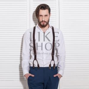 Подтяжки мужские кожаные Leather Suspenders