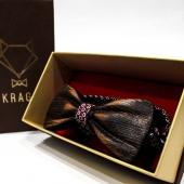 Фото Галстук-бабочка Private деревянная