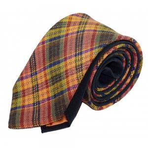 Шерстяной галстук Orange tartan
