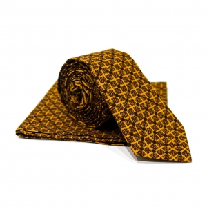 Комплект галстук и платок Tessera с узором