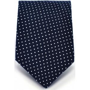 Галстук мужской темно-синий в горошек Gentleman Dots