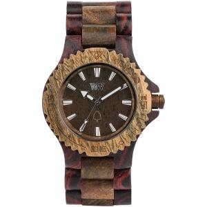Деревянные часы WeWOOD Date Brown Army