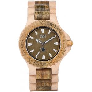 Деревянные часы WeWOOD Date Beige Army