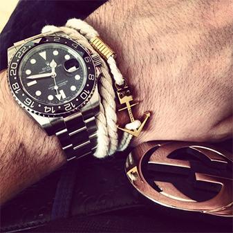 Браслеты с якорем и часы